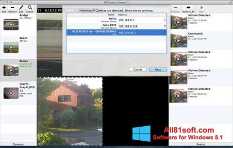 Ekraanipilt IP Camera Viewer Windows 8.1