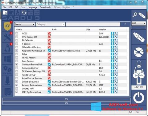 Ekraanipilt SARDU Windows 8.1