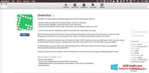 Ekraanipilt Greenshot Windows 8.1