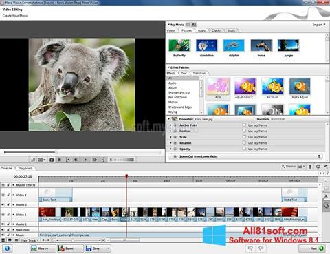 Ekraanipilt Nero Vision Windows 8.1