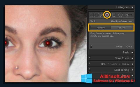 Ekraanipilt Red Eye Remover Windows 8.1