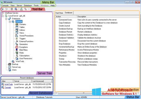 Ekraanipilt InterBase Windows 8.1