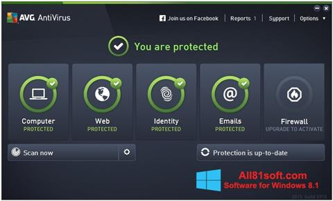Ekraanipilt AVG AntiVirus Pro Windows 8.1