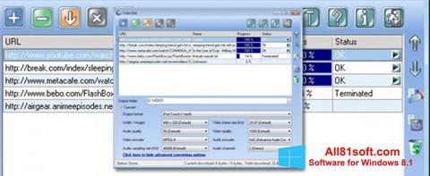 Ekraanipilt VideoGet Windows 8.1