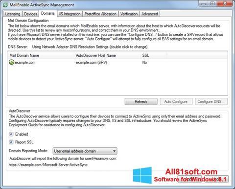 Ekraanipilt Microsoft ActiveSync Windows 8.1