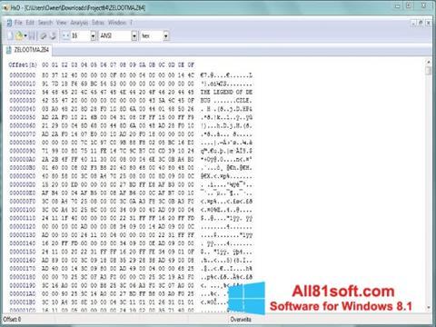 Ekraanipilt Hex Editor Windows 8.1
