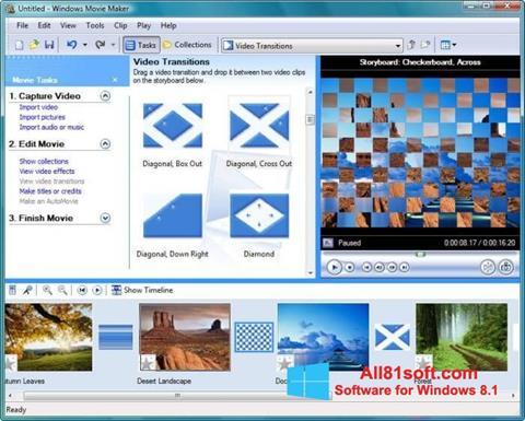 Ekraanipilt Windows Movie Maker Windows 8.1