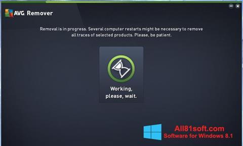 Ekraanipilt AVG Remover Windows 8.1