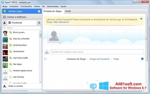 Ekraanipilt Skype Beta Windows 8.1
