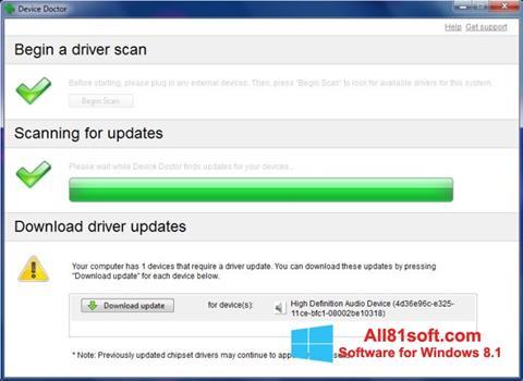 Ekraanipilt Device Doctor Windows 8.1
