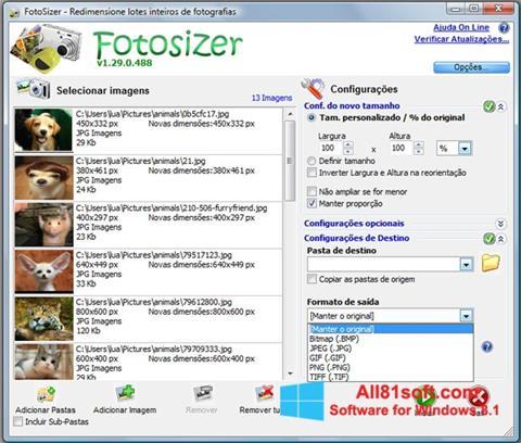 Ekraanipilt Fotosizer Windows 8.1