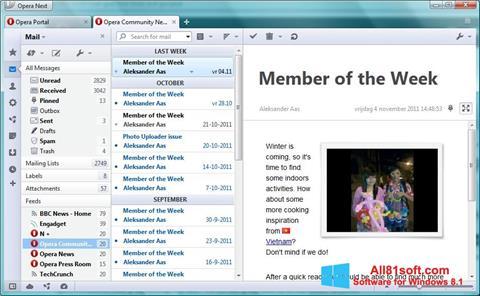 Ekraanipilt Opera Mail Windows 8.1
