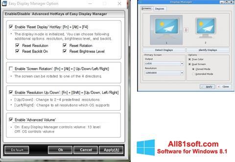 Ekraanipilt Easy Display Manager Windows 8.1