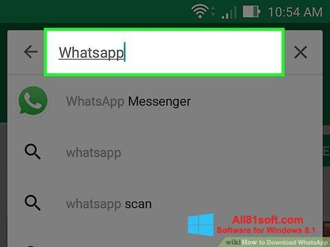 Ekraanipilt WhatsApp Windows 8.1