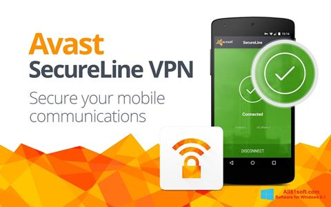 Ekraanipilt Avast SecureLine VPN Windows 8.1