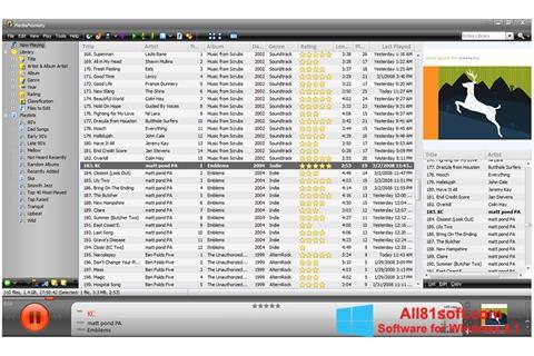 Ekraanipilt MediaMonkey Windows 8.1